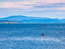 Каяк в океане Стоковое Изображение RF