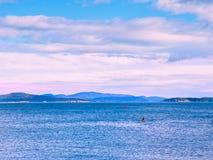 Каяк в океане Стоковое Изображение