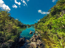 Каяк в Abel Tasman в Новой Зеландии Стоковое Изображение