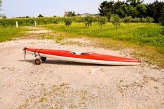 Каяк на пляже Стоковая Фотография RF