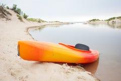 Каяк пляжа Стоковые Изображения