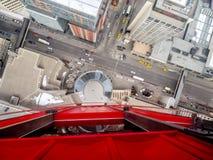 Калгари от стеклянного пола башни Калгари Стоковое Фото