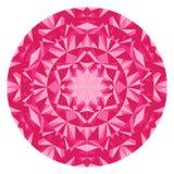 Калейдоскоп искусства мандалы современный индийский розовой иллюзии треугольников EPS доступный Стоковое Изображение RF