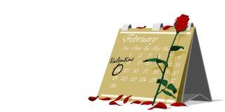 Календарь валентинки Стоковое Фото