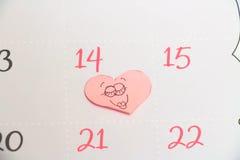Календарь валентинки стоковые фотографии rf