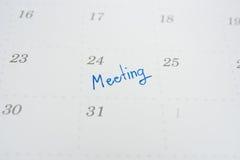 Календарь встреча месяца стоковое фото