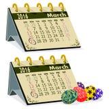 Календарь в марте Стоковое Изображение RF