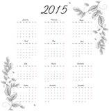 календарь 2015 год Стоковые Фотографии RF