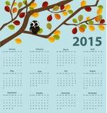 календарь 2015 год Стоковое Изображение