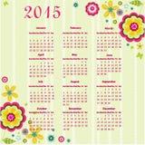 календарь 2015 год Стоковые Изображения RF