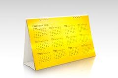 Календарь 2018 золота Стоковая Фотография
