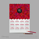 Календарь иллюстрации вектора на 2015 Шаблон стиля компании образа бренда Стоковое Фото