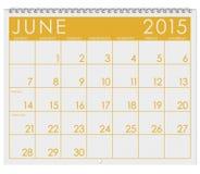 Календарь 2015: Месяц от июня иллюстрация штока