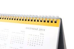 Календарь 2014 настольного компьютера стоковое изображение