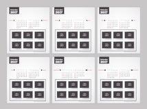 Календарь Нового Года 2017 Стоковое Изображение RF