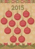 Календарь 2015 Новых Годов Стоковая Фотография RF