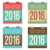 Календарь 2016 Новых Годов Стоковые Изображения