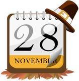 Календарь 2013 официальный праздник в США в память первых колонистов Массачусетса Стоковое Изображение