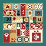Календарь пришествия рождества Стоковые Фото