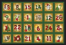 Календарь пришествия Стоковые Фотографии RF