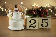 Календарь рождества Стоковые Изображения RF
