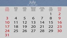 Календарь, слегка ударяя текстурированные страницы, соответствует 2016 сток-видео