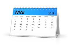 Календарь 2018 таблицы немецкого языка может Стоковые Фото