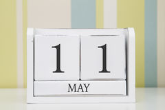 Календарь формы куба на 11-ое мая Стоковые Фотографии RF
