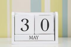 Календарь формы куба на 30-ое мая Стоковые Фото