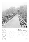 Календарь фото с минималистским городским пейзажем и мостом 2015 стоковые фотографии rf
