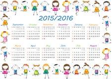 Календарь школы Стоковая Фотография RF