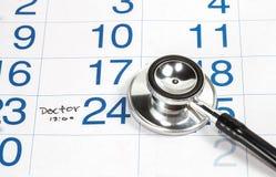 Календарь для доктора Назначения стоковая фотография