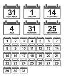 Календарь Стоковые Изображения RF