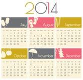 Календарь 2014 Стоковое Изображение