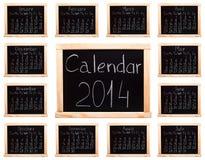 Календарь 2014 Стоковое Изображение RF