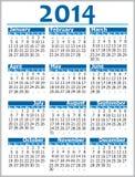 Календарь 2014 Стоковые Фото