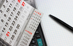 Календарь Стоковое фото RF