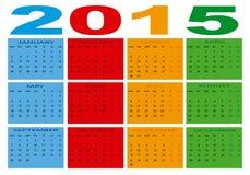 Календарь 2015 стоковые изображения rf