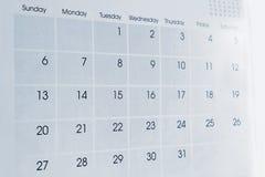 Календарь Стоковое Изображение