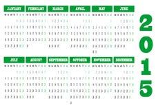 Календарь 2015 стоковое изображение