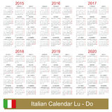 Календарь 2015-2020 Стоковые Фото