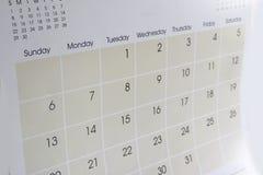 Календарь Стоковое Фото