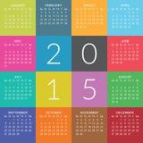 Календарь 2015 иллюстрация вектора