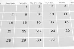Календарь Стоковые Фото