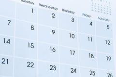 Календарь Стоковые Изображения
