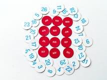 Календарь Стоковое Изображение RF