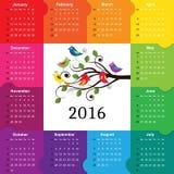 Календарь 2016 Стоковое Изображение RF