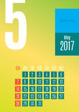 календарь 2017 Стоковая Фотография RF