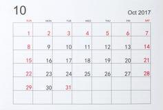 Календарь Стоковые Фотографии RF