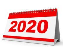 Календарь 2020 Стоковая Фотография